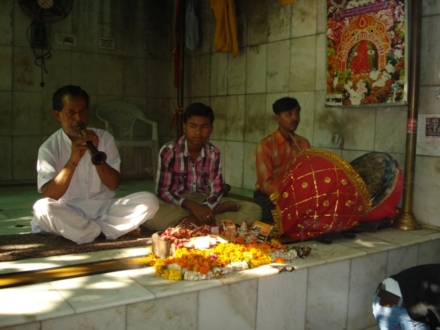Music being played at the temple premises