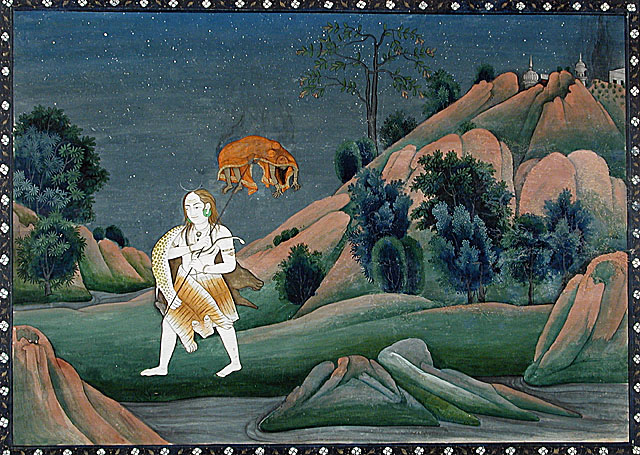 Lord Shiva carrying Devi Sati's corpse